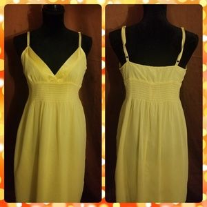 Forever 21 Yellow Summer Adjustable Straps Dress